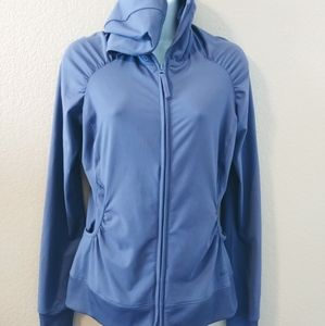 REI WOMENS PURPLE FITTED HOODED JACKET XS